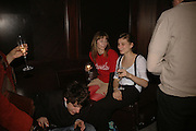 Antonia Guinness Grant, Marianne Souloumiac, Viewing of 'Petit Mal'  by Paul Fryer. The Grecian Temple. Great Eastern Hotel. 40 Liverpool St. London. EC2M 7QN. ONE TIME USE ONLY - DO NOT ARCHIVE  © Copyright Photograph by Dafydd Jones 66 Stockwell Park Rd. London SW9 0DA Tel 020 7733 0108 www.dafjones.com