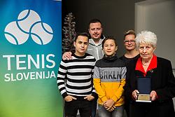Family of Anton Grosman during General Assembly of Slovenian Tennis Federation, on December 12, 2018 in Kristalna palaca, Ljubljana, Slovenia. Photo by Vid Ponikvar / Sportida