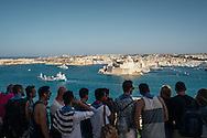 Mahmoud (far left), representing Hussein, the Mr Gay Syria title holder, in Malta's Mr Gay World 2016. 22 contestants from around the world looked out at Valetta, Malta's capital city during a tour of the nations islands.