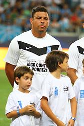 Ronaldo durante a 10ª edição do Jogo Contra a Pobreza - Match Against Poverty, na Arena do Grêmio, em Porto Alegre. FOTO: Lucas Uebel/Preview.com