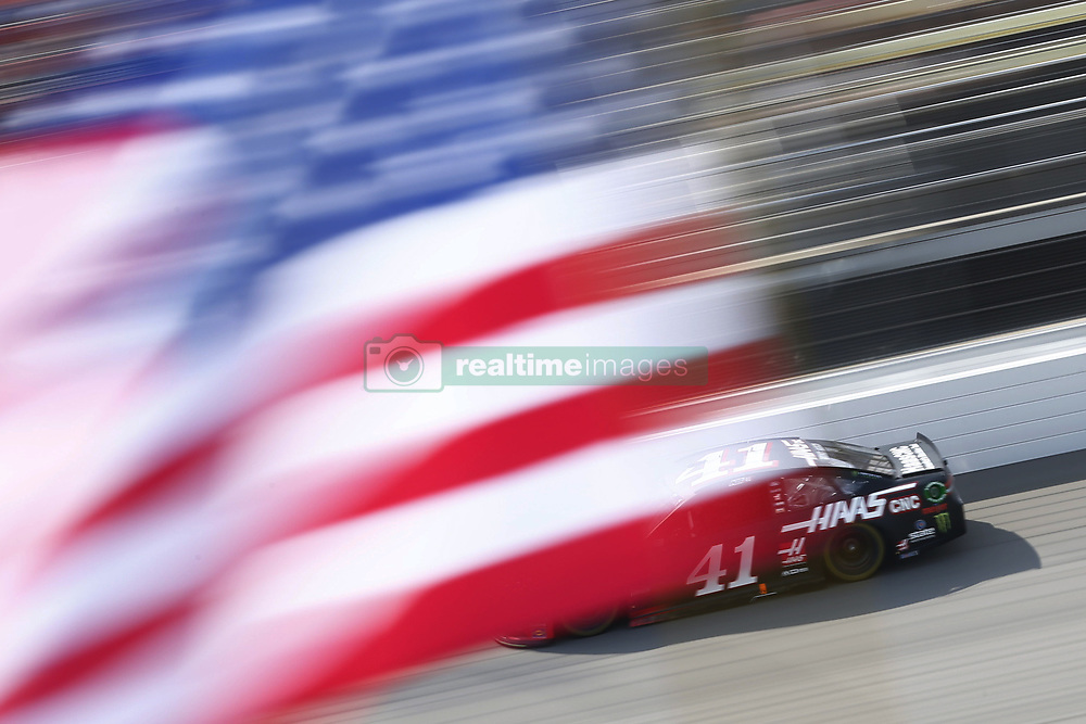 August 12, 2018 - Brooklyn, Michigan, United States of America - Kurt Busch (41) brings his race car down the front stretch during the Consumers Energy 400 at Michigan International Speedway in Brooklyn, Michigan. (Credit Image: © Chris Owens Asp Inc/ASP via ZUMA Wire)