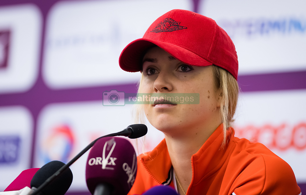 February 10, 2019 - Doha, QATAR - Elina Svitolina of the Ukraine talks to the media during the All Access Hour of the 2019 Qatar Total Open WTA Premier tennis tournament (Credit Image: © AFP7 via ZUMA Wire)