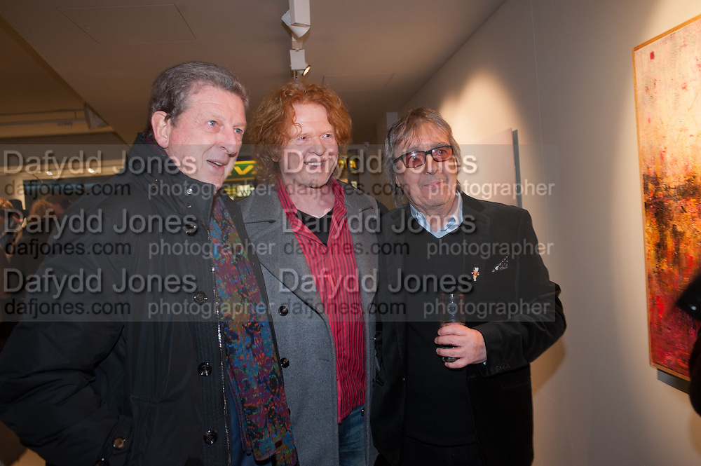 ROY HODGSON; MICK HUCKNALL; BILL WYMAN - REWORKED' , Photographs by Bill Wyman and reworks by Gerald Scarfe, Pam Glew, Dale Marshall, Penny and James Mylne, Rook & Raven Gallery: 7-8 Rathbone Place, London. 26 February 2013