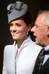 The Duke and Duchess of Cambridge attend an Easter Sunday Service at St Andrew's Cathedral in Sydney, Australia, on day 14 of their Royal Tour of New Zealand and Australia, Sunday, 20th April 2014. Picture by Andrew Parsons / i-Images