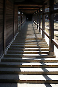 long stairs at the Todai-ji Nigatsu-do temple complex in Nara  Japan