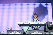 New Order live at Lollapalooza in Chicago on August 2nd, 2013.
