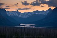 Sundown in Glacier National Park, Montana