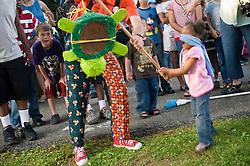 Inner city church strawberry festival celebrate w music games parents children food CITY URBAN STOCK PHOTO