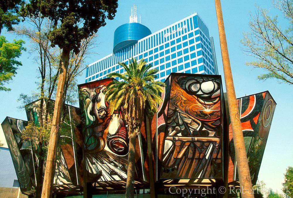 MEXICO, MEXICO CITY, MURAL murals on the Siqueiros Poliforum