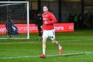 Aden Flint (24) of Middlesbrough warming up before the The FA Cup match between Newport County and Middlesbrough at Rodney Parade, Newport, Wales on 5 February 2019.
