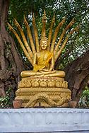 Buddha statue at a temple in Luang Prabang.