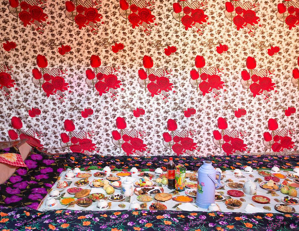 Celebrations for the Pamiri wedding of Hanisa. In Roshorv village.