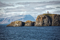 Breidafjördur Bay, located in Western Iceland, is a large shallow bay that separates the from the rest of the country.