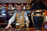 Moscow, Russia, 28/03/2012..Lobby bar inside the Hotel Arbat.