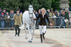 Tew Julie, (GBR), Lord Of The Owls<br /> First Horse Inspection - Mitsubishi Motors Badminton Horse Trials <br /> Badminton 2015
