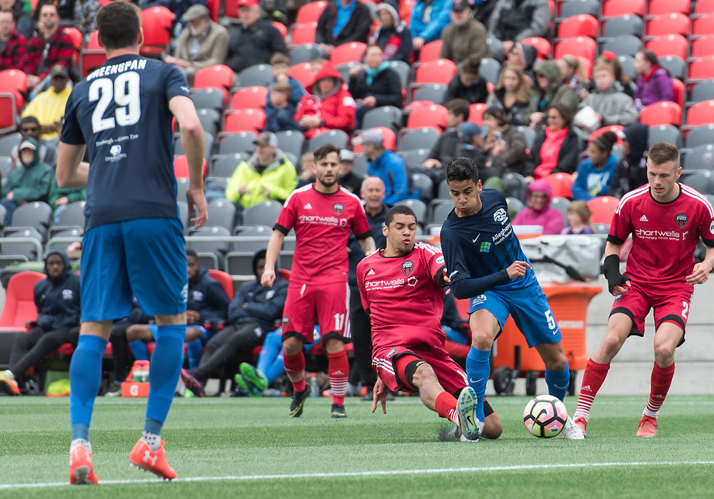 OTTAWA, ON - MAY 13: USL match between the Ottawa Fury FC and Pittsburgh Riverhounds at TD Place Stadium in Ottawa, ON. Canada on May 13, 2017.<br /> <br /> PHOTO: Steve Kingsman/Freestyle Photography/Ottawa Fury FC