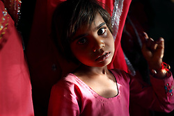Rajni Bhamwari, 5-years-old, is seen at her home the day before her wedding in Rajasthan, India on April 26, 2009.