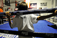 A young fan on Saturday. In a well-attended, all-ages music event organized by Salinas' own In Your Face Productions, five area metal bands played their hearts out at the Rock Boxing Gym on East Alisal Street.