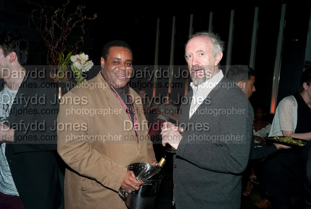 CLIVE ROWE; JONATHAN PRYCE, Clybourne Park Press night. Opened at Wyndham's Theatre. Party afterwards at Mint Leaf, Haymarket, London. 8 February 2011.  -DO NOT ARCHIVE-© Copyright Photograph by Dafydd Jones. 248 Clapham Rd. London SW9 0PZ. Tel 0207 820 0771. www.dafjones.com.