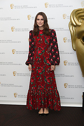 December 17, 2018 - London, London, United Kingdom - Image licensed to i-Images Picture Agency. 17/12/2018. London, United Kingdom. Keira Knightley arriving to discuss her career at a  Life in Pictures event at BAFTA  in London. (Credit Image: © Stephen Lock/i-Images via ZUMA Press)