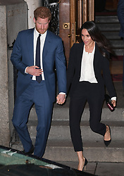 Prince Harry and Meghan Markle attending the  Endeavour Fund Awards Ceremony, Goldsmiths Hall, London. Picture credit should read: Doug Peters/EMPICS Entertainment