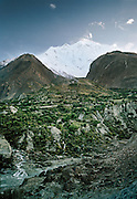 Mount Rakaposhi. People and places of the Hunza Valley, in the heart of the Karakoram mountain Range, North Pakistan.