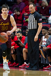 NORMAL, IL - January 19:  Tate Hall and Don Daily during a college basketball game between the ISU Redbirds and the Loyola University Chicago Ramblers on January 19 2020 at Redbird Arena in Normal, IL. (Photo by Alan Look)