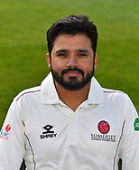 Head shot of Azhar Ali of Somerset during the 2019 media day at Somerset County Cricket Club at the Cooper Associates County Ground, Taunton, United Kingdom on 2 April 2019.