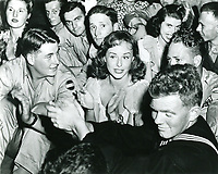 1944 Paulette Goddard at the Hollywood Canteen