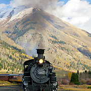 A haunting whistle. The clickity-clack of wheels on twin ribbons of steel. The intrigue of traveling the same tracks miners, cowboys and settlers of the old west took over a century ago. With billows of stream huffing from its authentic, coal-fired engine, the old 486 iron horse meanders through Colorado's stunning and remote wilderness on the Durango & Silverton Narrow Gauge Railroad.