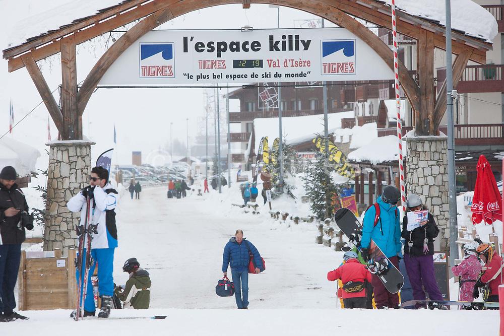 Tignes Val Claret ski resort in the French Tarentaise Valley