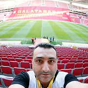 Galatasaray's and Eskisehirspor's during their Turkish Super League soccer match Galatasaray between Eskisehirspor at the TT Arena at Seyrantepe in Istanbul Turkey on Saturday, 13 September 2014. Photo by Aykut AKICI/TURKPIX