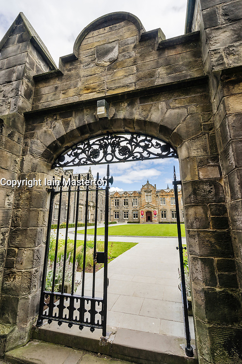 Entrance to Quad of St Salvator's College, University of St Andrews, St Andrews, Fife, Scotland