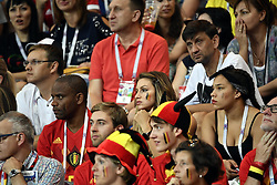 July 2, 2018 - Rostov, RUSSIA - Witsel's father Thierry, Witsel's wife Rafaella Szabo and Witsel's sister Whitney pictured at a round of 16 game between Belgian national soccer team the Red Devils and Japan in Rostov, Russia, Monday 02 July 2018. ..BELGA PHOTO DIRK WAEM (Credit Image: © Dirk Waem/Belga via ZUMA Press)