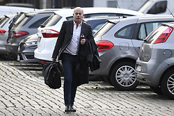 October 26, 2018 - Tongeren, BELGIUM - Lawyer Sven Mary, defending soccer agent Karim Mejjati, arrives for the appearance of eight suspects in the football fraud case at the Antwerp Court, Friday 26 October 2018. Several suspects in a large investigation into tax evasion, money laundering and possible match fixing in Belgian first division soccer competition were arrested in 'Operatie Propere Handen' (Operation Clean Hands)...BELGA PHOTO DIRK WAEM (Credit Image: © Dirk Waem/Belga via ZUMA Press)