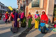 Colourful dressed women vendors, Ima Keithel women´s market, Imphal, Manipur, India