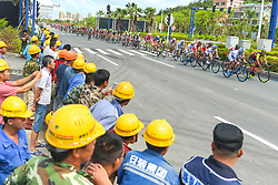 September 24, 2017 - Zhuhai, Guangdong, China - The peloton during the fifth and final stage of the 2017 Tour of China 2, the 91.2km Zhuhai Hengqin Circuit Race. .On Sunday, 24 September 2017, in Hengqin district, Zhuhai City, Guangdong Province, China. (Credit Image: © Artur Widak/NurPhoto via ZUMA Press)