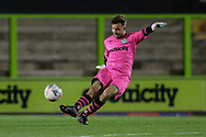 Forest Green Rovers goalkeeper Louis Owens(30) during the FA Youth Cup match between Forest Green Rovers and Helston Athletic at the New Lawn, Forest Green, United Kingdom on 29 October 2019.