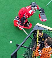 BLOEMENDAAL  -  keeper Loic van Doren (Den Bosch)   tijdens de oefenwedstrijd Bloemendaal-Den Bosch (m) .  COPYRIGHT KOEN SUYK