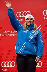 11.02.2011, Medal Placa, Garmisch Partenkirchen, GER, FIS Alpin Ski WM 2011, GAP, Damen, Super Combination, Medaillen Zeremonie, im Bild bronze Medaille Anja Paerson (SWE) // bronze Medal for Anja Paerson (SWE) during ladies Supercombi Medal Ceremony, Fis Alpine Ski World Championships in Garmisch Partenkirchen, Germany on 11/2/2011. EXPA Pictures © 2011, PhotoCredit: EXPA/ J. Groder