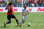 Manchester United Midfielder Marouane Fellaini tackles Real Madrid Luka Modric during the AON Tour 2017 match between Real Madrid and Manchester United at the Levi's Stadium, Santa Clara, USA on 23 July 2017.