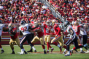 San Francisco 49ers quarterback Blaine Gabbert (2) throws the ball Houston Texans at Levi's Stadium in Santa Clara, Calif., on August 14, 2016. (Stan Olszewski/Special to S.F. Examiner)