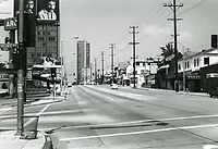 1973 Looking west on Sunset Blvd. from San Vicente Blvd.