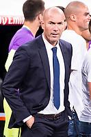 Real Madrid's coach Zinedine Zidane during the XXXVII Santiago Bernabeu Trophy in Madrid. August 16, Spain. 2016. (ALTERPHOTOS/BorjaB.Hojas)