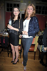 Left to right, JEMIMA FRENCH and SUSANNA CONSTANTINE at a dinner in aid of the Soil Association held at Bumpkin, 102 Old Brompton Road, London SW7 on 11th March 2009.