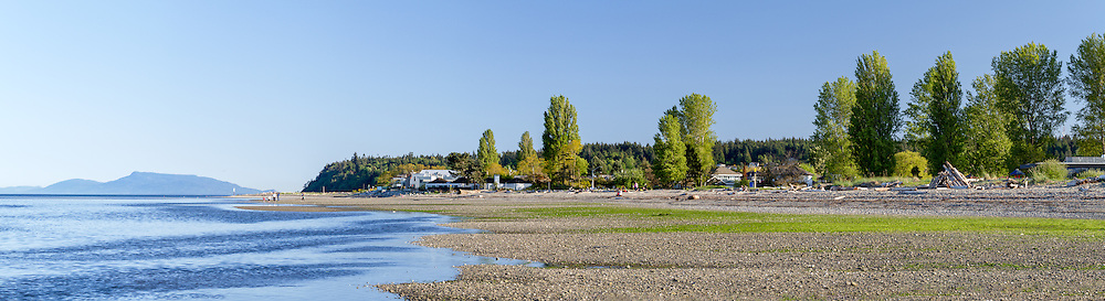 The tide coming in towards Centennial Beach at Boundary Bay Regional Park in Tsawwasen, British Columbia, Canada.
