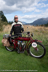 Fred Wacker with his 1913 Indian in the Motorcycle Cannonball coast to coast vintage run. Stage 15  (51 miles - the Grand Finish) from The Dalles to Stevenson, OR. Sunday September 23, 2018. Photography ©2018 Michael Lichter.
