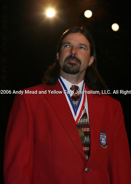 28 August 2006: 2005 inductee Marcelo Balboa. The National Soccer Hall of Fame Induction Ceremony was held at the National Soccer Hall of Fame in Oneonta, New York.