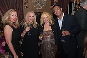 MARY SOL; MARIA PEREZ; EVA HAROLD; ISHI SHEIKH, Eva Harold birthday party. Ballroom, Beach Blanket Babylon. Notting Hill, London. 19 November 2012.