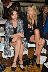 Left to right, BILLIE JD PORTER and LAURA WHITMORE at the Gyunel Spring Summer 2015 fashion show as part of London Fashion week 2015 held at Victoria House, Bloomsbury Square, London on 12th September 2014.